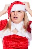 Mulher forçada do Natal imagem de stock