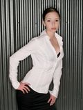 Mulher-forma-intenso-'sexy'-brunette Fotografia de Stock