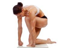 Mulher forte muscular fotografia de stock royalty free