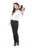 Mulher-fotógrafo Fotografia de Stock