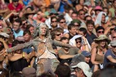Mulher Frightening Fotos de Stock Royalty Free