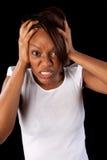 Mulher frustrante imagens de stock royalty free