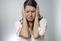 A mulher é frustrante Imagem de Stock
