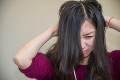 Mulher frustrante Fotografia de Stock