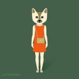 Mulher-gato, vestido Imagem de Stock