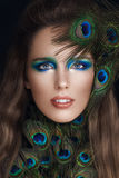 Mulher glamoroso com composição da forma Fotos de Stock