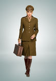 Mulher glamoroso no uniforme militar Imagem de Stock Royalty Free
