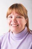 Mulher gorda de sorriso Fotos de Stock