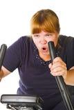 Mulher gorda Tired foto de stock