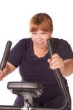 Mulher gorda Tired imagem de stock