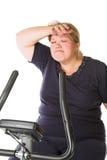 Mulher gorda Tired imagens de stock