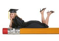 Mulher graduada Fotos de Stock