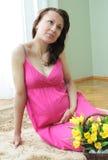 Mulher gravida Fotografia de Stock