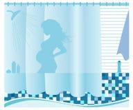 Mulher gravida Fotos de Stock Royalty Free