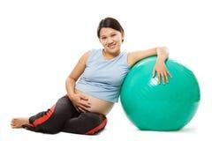 Mulher gravida imagem de stock royalty free