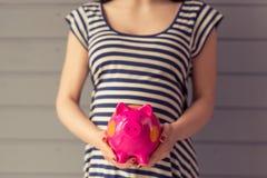 Mulher gravida bonita foto de stock royalty free