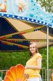 Mulher gravida bonita no parque Imagens de Stock Royalty Free