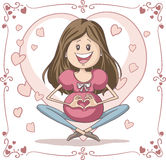 Mulher gravida - desenhos animados do vetor Imagem de Stock Royalty Free