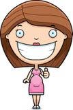 A mulher gravida dos desenhos animados manuseia acima Imagens de Stock