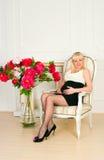 Mulher gravida elegante Fotos de Stock