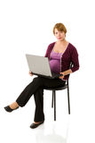 Mulher gravida em linha Imagens de Stock Royalty Free