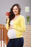 Mulher gravida feliz Imagens de Stock
