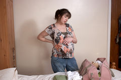 Mulher gravida nova Foto de Stock Royalty Free
