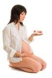 Mulher gravida nova Imagem de Stock Royalty Free