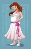 Mulher gravida nova bonita Imagem de Stock