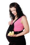 Mulher gravida nova encantador foto de stock royalty free