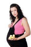Mulher gravida nova encantador fotografia de stock royalty free