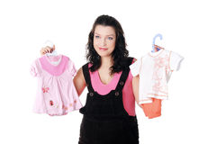 Mulher gravida nova encantador Fotografia de Stock