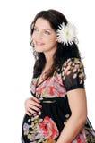 Mulher gravida nova encantador imagens de stock royalty free