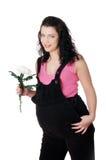 Mulher gravida nova encantador fotos de stock royalty free