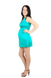 Mulher gravida nova feliz Foto de Stock