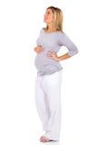 Mulher gravida que olha acima imagens de stock royalty free