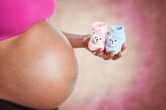 A mulher gravida quer saber se é menino ou menina Foto de Stock Royalty Free