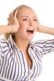 Mulher gritando Imagem de Stock Royalty Free