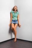 Mulher gritando Fotografia de Stock