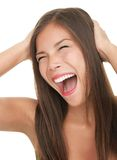 Mulher gritando do divertimento Foto de Stock Royalty Free