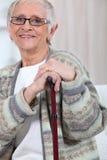 Mulher idosa foto de stock royalty free