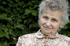 Mulher idosa foto de stock