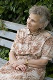 Mulher idosa Fotografia de Stock Royalty Free