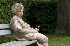 Mulher idosa fotos de stock royalty free
