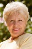 A mulher idosa Fotografia de Stock