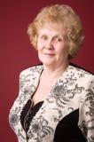 A mulher idosa alegre. Fotografia de Stock Royalty Free