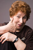 A mulher idosa alegre. Fotos de Stock Royalty Free