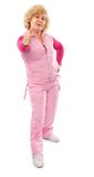 Mulher idosa ativa na vida saudável agradável Foto de Stock Royalty Free