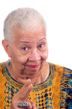 Mulher idosa do americano africano imagens de stock