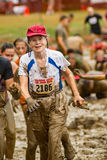 "mulher idosa do 21th †anual de Marine Mud Run "" Foto de Stock"